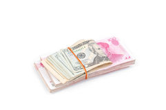 Dollar USA and RMB Chinese Royalty Free Stock Images