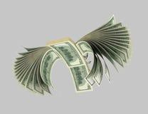 Dollar, Vögel, Origam 10 stock abbildung