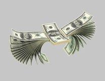 Dollar, Vögel, Origam 12 vektor abbildung
