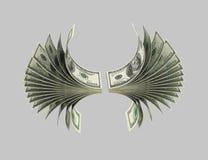 Dollar, Vögel, Origami 5 stock abbildung