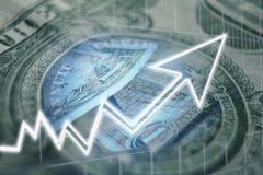 Dollar Value Rising stock photography