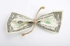 Dollar Vastgebonden Streng Stock Foto's