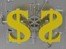 Dollar vault concept Stock Image