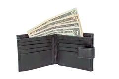 Dollar Vereinigter Staaten in einer Geldbörse Stockfotos