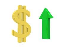 Dollar vers le haut Image stock