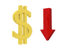 Dollar vers le haut Images stock