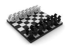 Dollar versus Euro schaak Stock Afbeeldingen