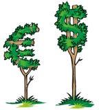Dollar versus euro Stock Photography