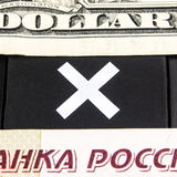 Dollar versus ruble Royalty Free Stock Images