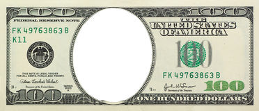 Dollar vide Photographie stock