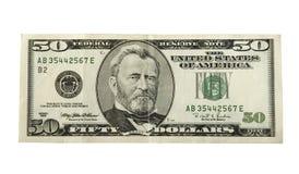 Dollar vijftig Royalty-vrije Stock Foto's
