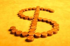 Dollar von den Cents stockfotos
