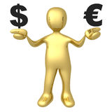 Dollar vs Euro Royalty Free Stock Image