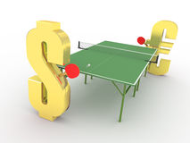 Dollar vs Euro competition concept Royalty Free Stock Image