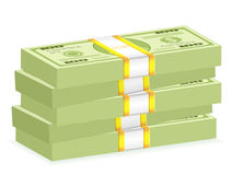 Dollar wad stack Stock Photo