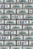 Dollar wall Royalty Free Stock Photo
