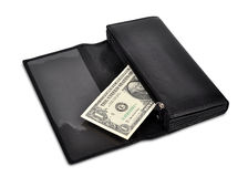 Dollar in wallet Royalty Free Stock Photos