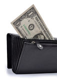 Dollar in wallet Stock Image