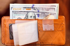 Dollar in wallet Royalty Free Stock Photo
