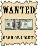 dollar wanted Royalty Free Stock Photography