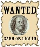 dollar wanted Royalty Free Stock Photo