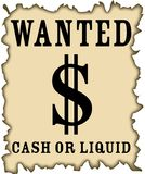 dollar wanted Royalty Free Stock Image
