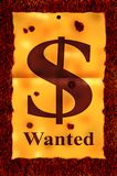 Dollar wanted poster. Stock Images