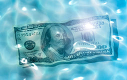 Dollar water Stock Photo