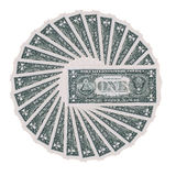 Dollar wheel Royalty Free Stock Photos