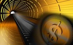 Dollar wheel Stock Image