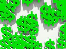 Dollar on a white background Royalty Free Stock Photo
