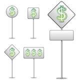 Dollar White Road Sign