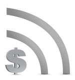 Dollar wifi connection sign Stock Photo