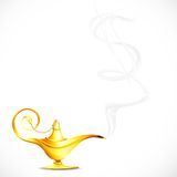 Dollar Wish. Illustration of dollar shape smoke coming out of antique golden ginie lamp stock illustration