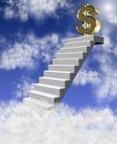 Dollar in wolken vector illustratie