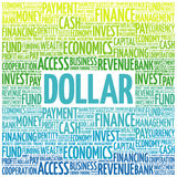 DOLLAR word cloud Stock Images