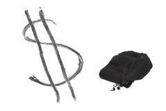 Dollar Written With Coal Stock Photography