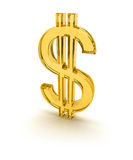 Dollar sign on white isolated Royalty Free Stock Photos