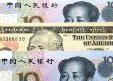 Dollar and yuan Royalty Free Stock Photography