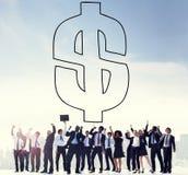 Dollar-Zeichen-Geld-Finanzgeldumtausch-Konzept stockbilder