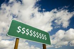 Dollar-Zeichen-Verkehrsschild stockfotos