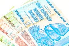 dollar zimbabwe arkivbild
