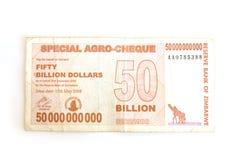 dollar zimbabwe Arkivbilder