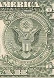 Dollaradler-Banknotenabschluß oben. Stockbild