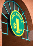 Dollarama Sign, Canadian Retailer. TORONTO,CANADA-APRIL 4,2015: Dollarama is a chain of over 900 dollar stores across Canada. The company is headquartered in Stock Photos