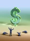 Dollaranbetung Lizenzfreies Stockfoto