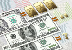 Dollaraufblasen Stockfotos