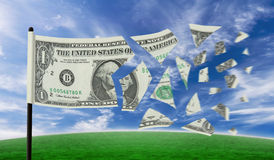 Dollarauseinander reißen Stockbild