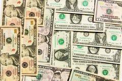 Dollarbakgrund Arkivbilder