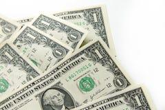 Dollarbankbiljetten Royalty-vrije Stock Foto